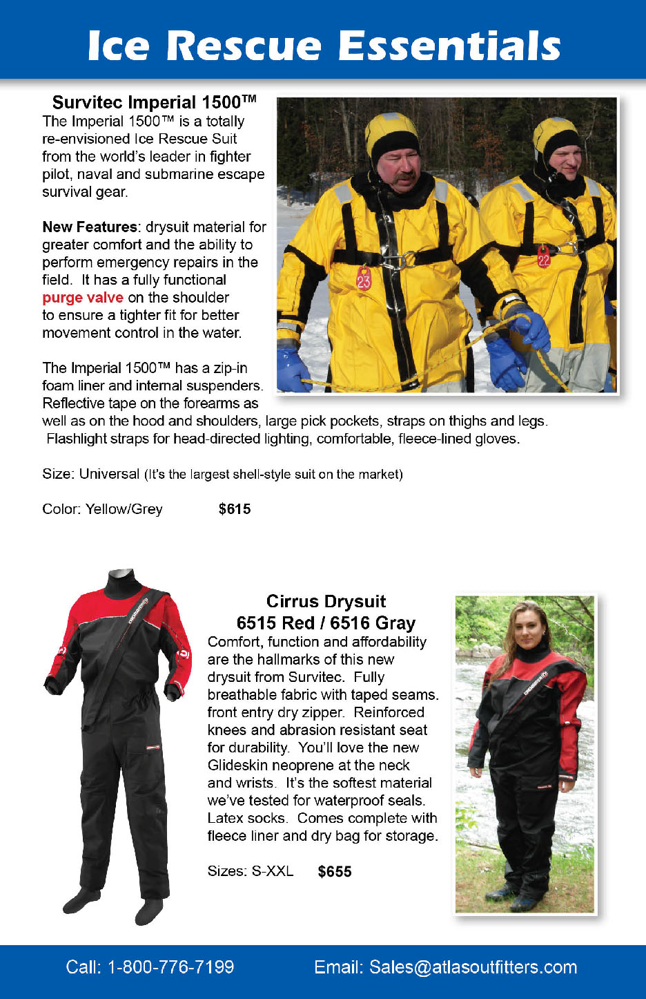 Survitec Imperial 1500 ice rescue suits