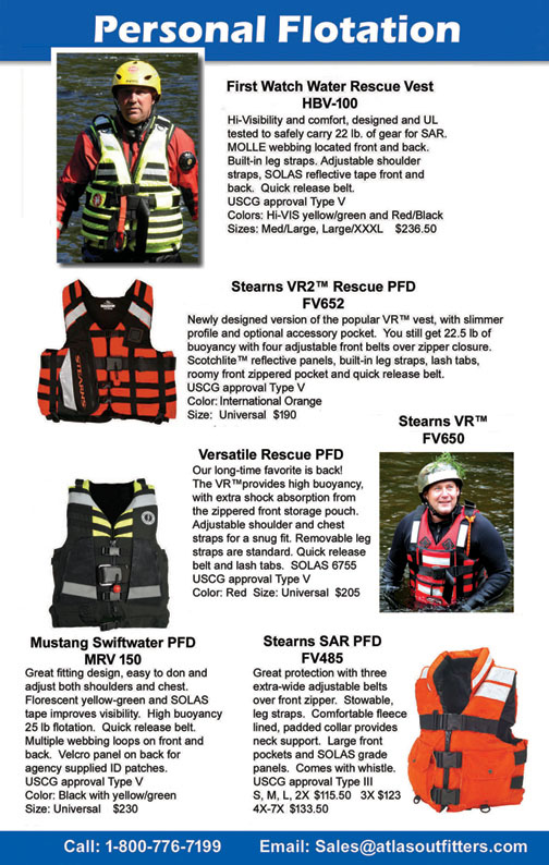 PFD, life jacket for rescue
